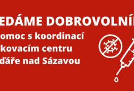 Žďárská charita hledá dobrovolníky do očkovacího centra